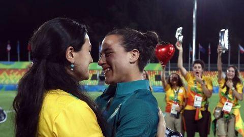 Olimpia 2016: Leszbi lánykérés a rögbimeccs után