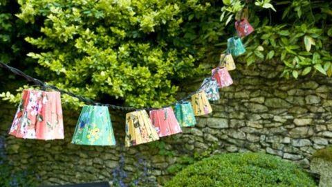 Készíts lámpaernyőket a kertbe