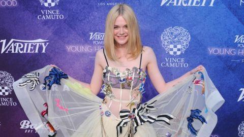 Lélegzetelállító Elle Fanning ruhája