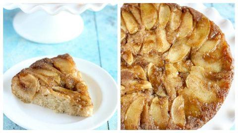 Fordított almás sütemény receptje