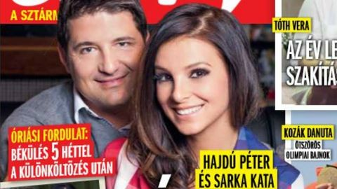 Fordulat: Hajdú Péter és Sarka Kata kibékültek