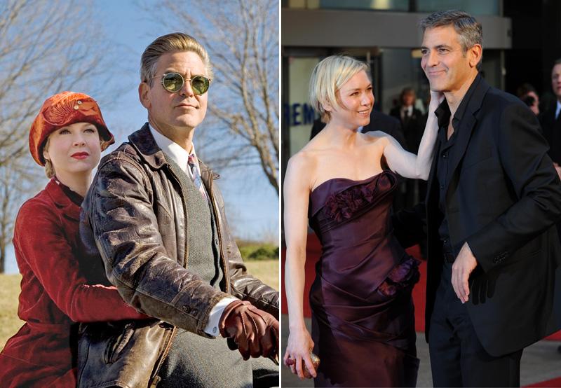 Zellweger és Clooney a Bőrfejekben (Fotó: Profimedia)