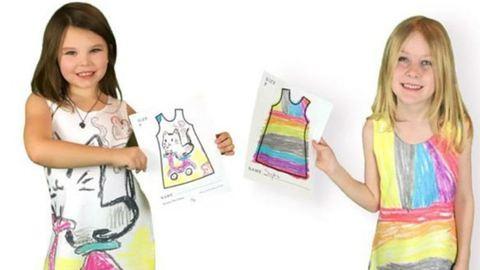 Ennél a divatcégnél a gyerekek maguknak rajzolhatnak ruhát