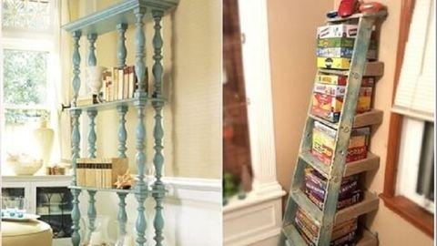 7 menő könyvespolcötlet az újrahasznosítás szerelmeseinek