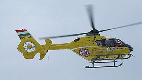 Beteggel együtt zuhant le egy mentőhelikopter Sebő közelében