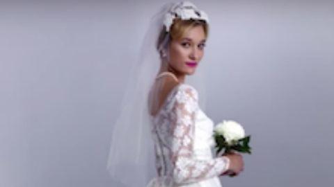 Vissza a '80-as évekbe: csajok az anyukájuk menyasszonyi ruhájában