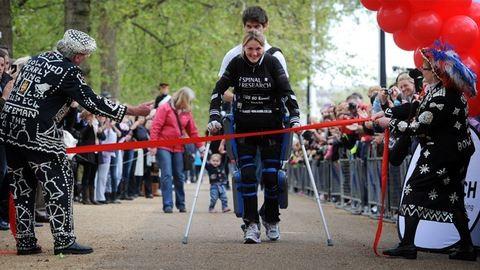 Lebénult nő is teljesítette a félmaratont