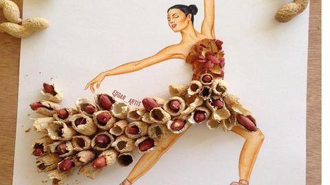 Ínycsiklandó illusztrációk: ételek teszik teljessé a divatrajzokat