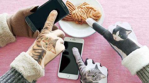 A cicás okostelefon-kesztyű az idei tél slágere