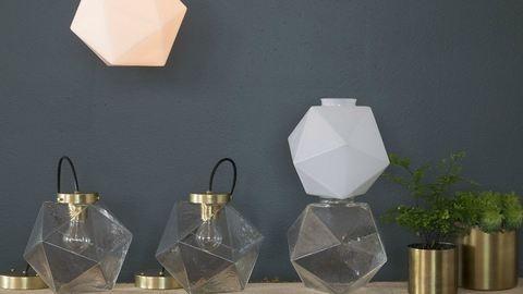 Új geometrikus üvegbúra, olyan, akár egy ékszer