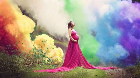 Lélegzetelállító fotóval ünnepli kisbabáját hat vetélés után
