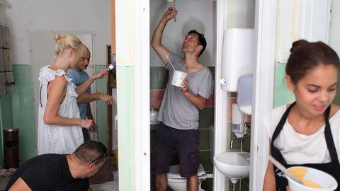 Varázspálca helyett pemzli, avagy örökbe fogadtunk egy iskolai mosdót