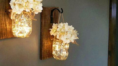 DIY: rusztikus fali dísz befőttesüvegből