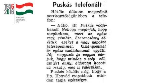 Puskás Öcsi meghalt, majd telefonált a Népszavába
