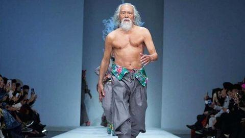 80 éves nagypapa vonult a kifutón