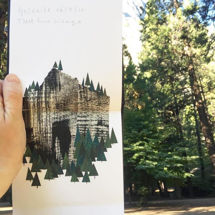 Menő kollázsokban dokumentálta utazásait - képek
