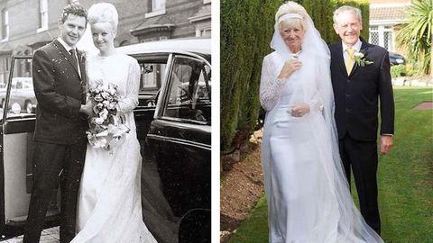 Ugyanabban a ruhában ünnepelte 50. házassági évfordulóját az idős pár