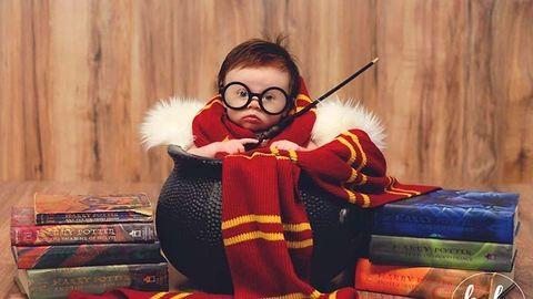 Nincs cukibb a három hónapos baba Harry Potter-es fotósorozatánál