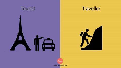 9 ütős rajz, ami megmutatja, mi a különbség a turista és utazó között