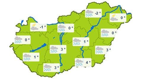 Kedden jöhet a hóesés a Dunántúlon