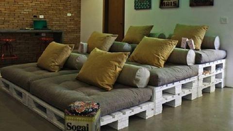 12 briliáns bútorötlet, amit megvalósíthatsz raklapokból