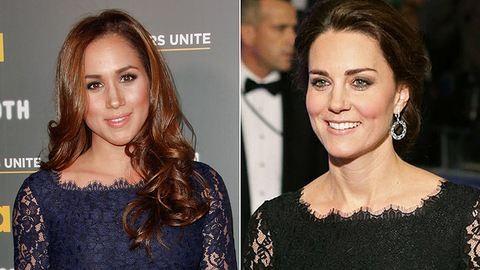 Egyforma ruhát viselt Katalin hercegné és Harry herceg barátnője – fotó