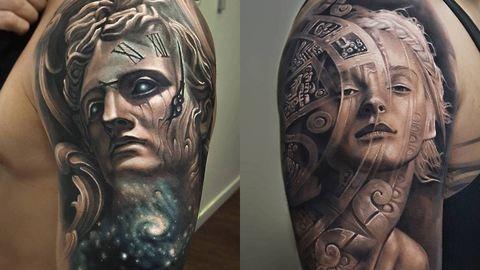 Elképesztő 3D tetoválásokat készít egy coloradói művész