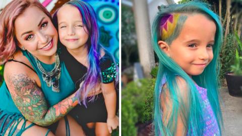 Nekimentek az anyukának, mert kékre festette kislánya haját