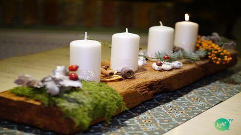 Készíts gyönyörű adventi asztaldíszt – videó