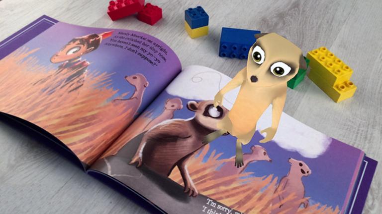A kiterjesztett valóság életre kelti a nyomtatott könyvek szereplőit (Fotó: My Kingdom Books)