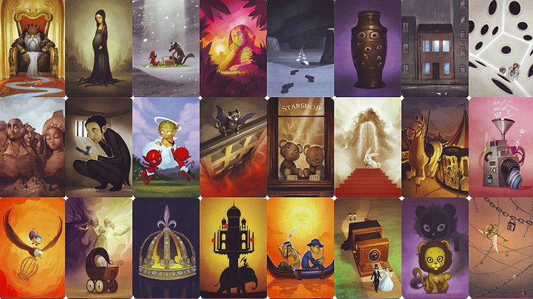 A Dixit kártyái önálló művészeti alkotásként is megállják a helyüket