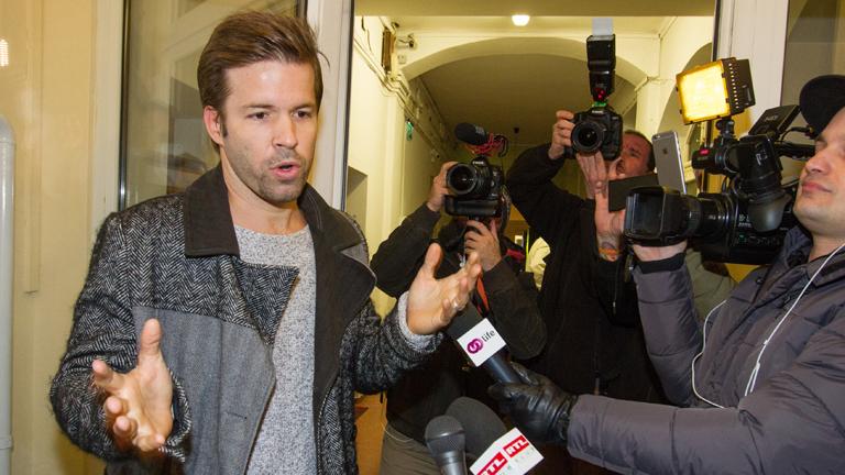 Sebestyén Balázs a csatornaváltásról szóló sajtótájékoztatón (Fotó: Vörös Szilárd)