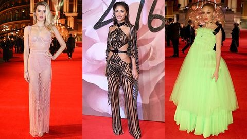 Neon, tüll és bugyihiány – íme a British Fashion Awards, 2016 leg-leg ruhái