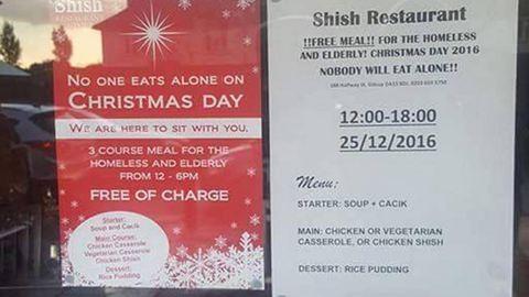 Muszlim étteremben ehetnek ingyen az idősek és a hajléktalanok karácsonykor
