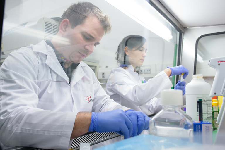 A pécsi labor már most is teljes kapacitással pörög (Fotó: Humeltis)