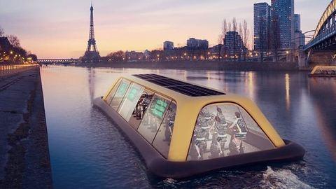 Napi menőség: a Szajnán úszó konditeremből edzés közben gyönyörködhetsz Párizsban