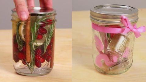 Last minute karácsonyi ajándékok befőttes üvegben