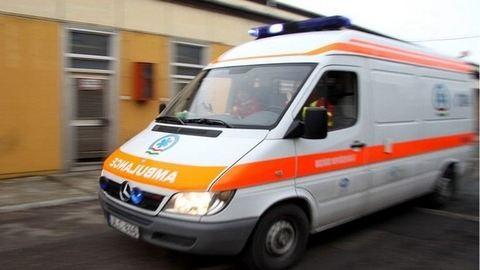 Kigyulladt egy mentőautó Budapesten