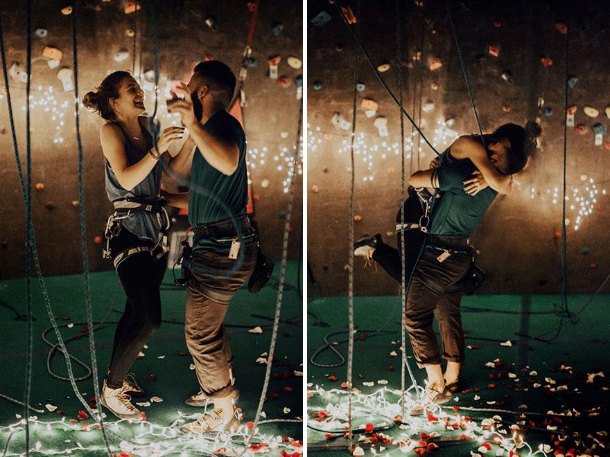 Elképesztően romantikus módon kérte meg barátnőjét a hegymászó
