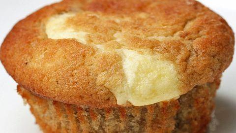 Könnyed és finom banános-krémsajtos muffinok