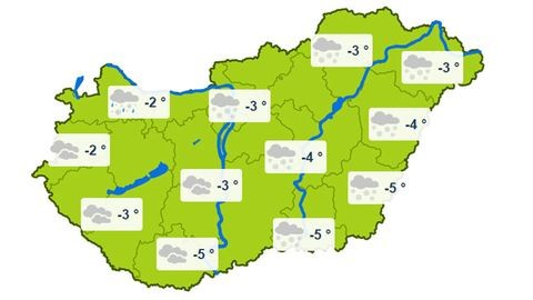 Több helyen is havazhat holnap