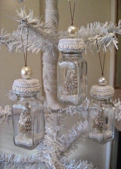 Fogj pár régebbről megmaradt üveget, amit aztán kedvedre öltöztethetsz fel téli köntösbe!