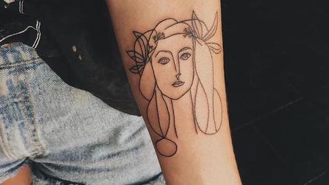 12 csodás tetoválás, amit a képzőművészet inspirált