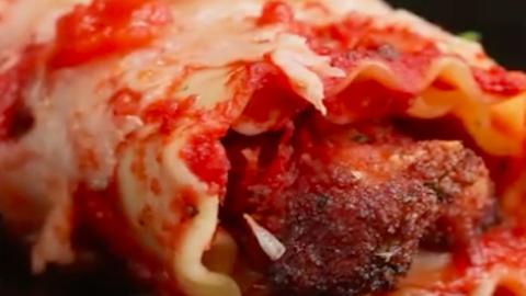 Lasagne, ahogy még sosem láttad: csirkés lasagne tekercs