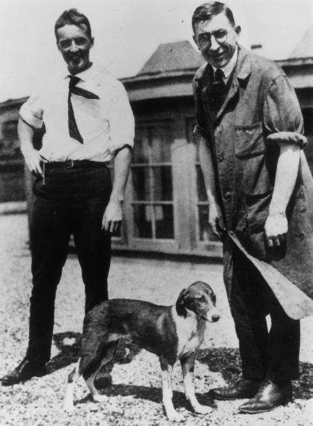 Charles Best és Frederick Banting az inzulin feltalálói
