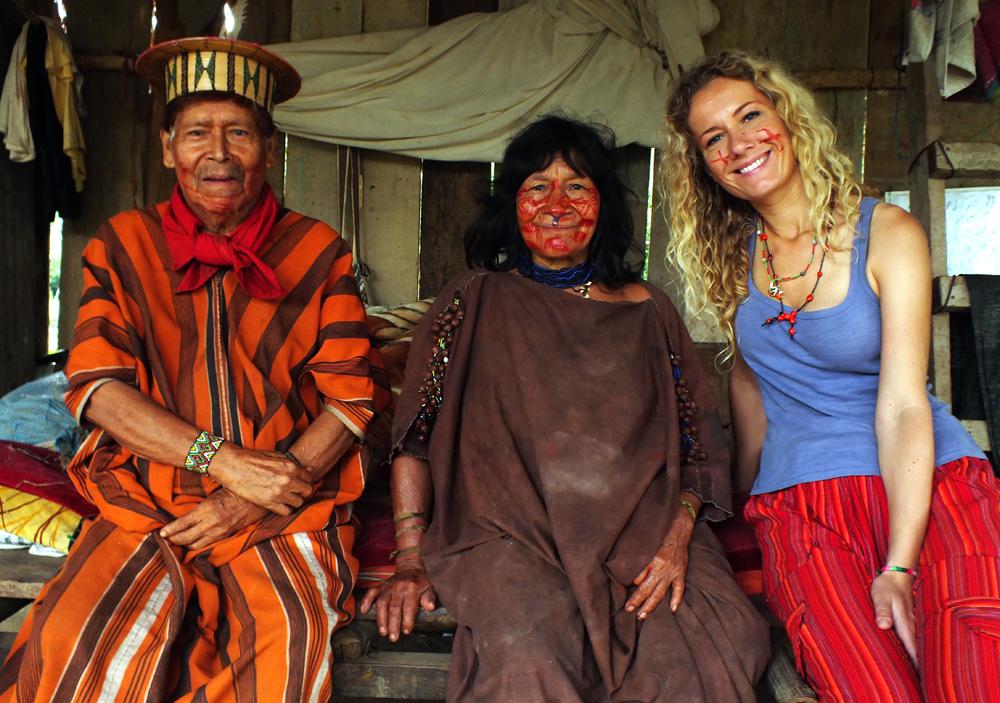 Az asháninka törszfőnökkel és feleségével (Peru, 2013. június)