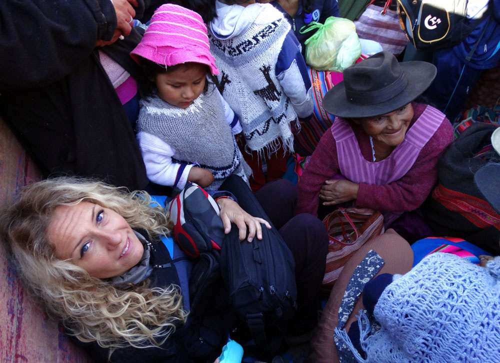 Tömegközlekedés (Bolívia, 2014. szeptember)