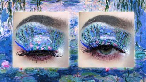 Világhírű festmények alapján készít sminkeket a tinilány