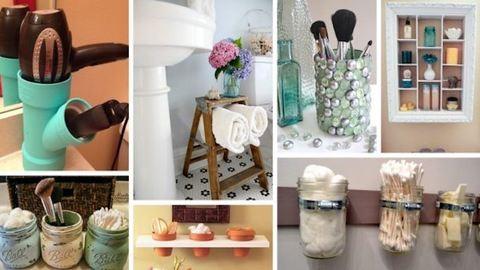 Szuper rendszerezési ötletek a fürdőszobába