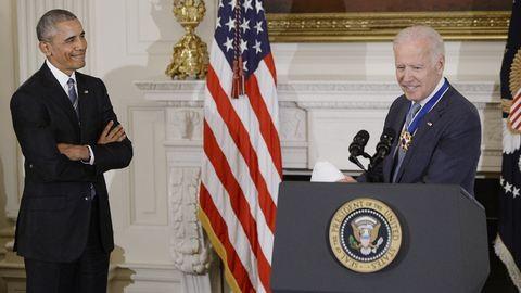 Megható pillanatok: Obama búcsúzóul meglepte alelnökét